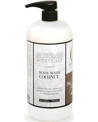 Coconut Body Wash Liter 33 oz