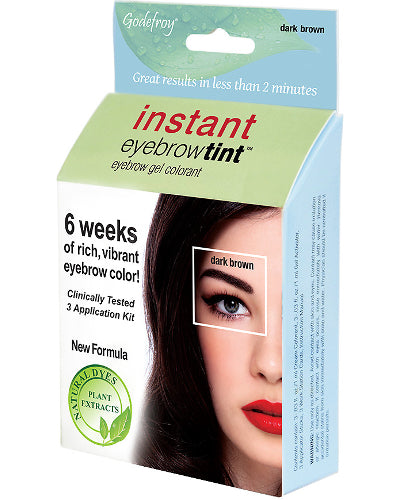 Instant Eyebrow Tint Dark Brown 3 Application Kit