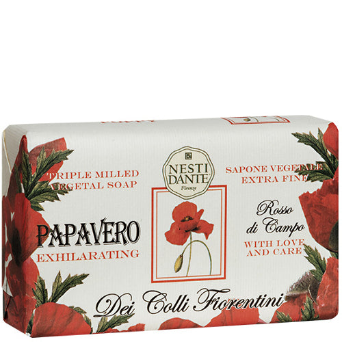 Dei Colli Fiorentini Poppy Exhilarating Soap 8.8 oz