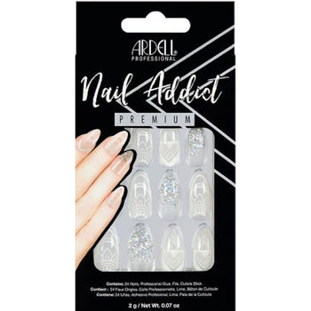 NAIL ADDICT PREMIUM ARTIFICIAL NAIL SET - GLASS DECO
