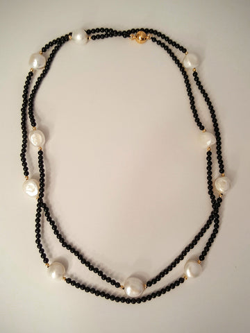 Semi-Precious Stone and Pearl Necklace