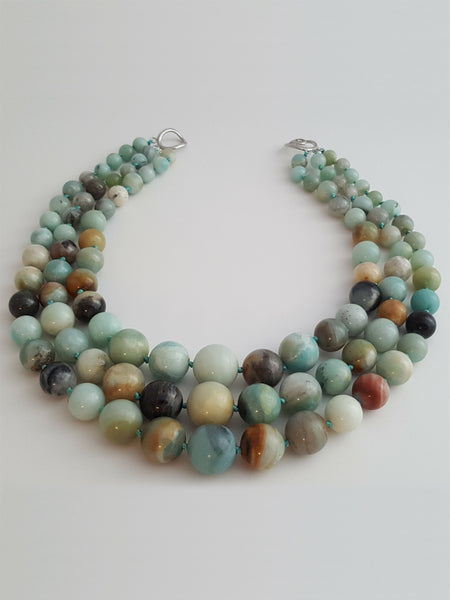 Three Strand Amazonite Necklace