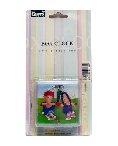 Jawaher & Ziad Box Clock in Square