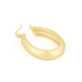 Matte gold tone hoop with latch back