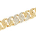 Pavé Crystal Rhinestones with Rope Links Gold Tone Statement Bracelet