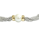 Faux Pearl Two Tone Necklace