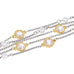 Clear CZ & Faux Pearl Multi Strand Toggle Bracelet