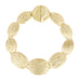 Matte Gold Tone Brushed Textured Solid Ovals Bracelet