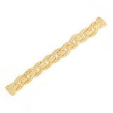 Gold Tone Basket Weave Braided Bracelet