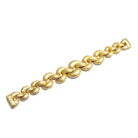 Gold Tone Braided Matte Brush Texture Bracelet