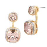 Champagne Cubic Zirconia Two Tone Ear Jacket