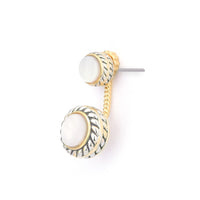 Mother of Pearl Two Tone Ear Jacket