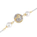 Imitation Pearls Two Tone Filigree Ball Long Strand Necklace 36""