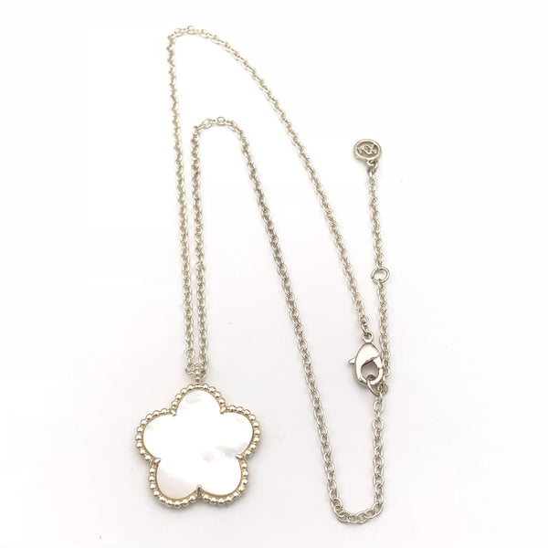 Mother of Pearl Flower Necklace- 16 inch