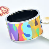 Colorful Meaningful Word Printed Bangle