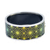 Dark Gold Octagon Starburst HD Printed Hinged Bangle