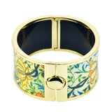 Japanese Flower Art HD Printed Hinged Bangle