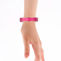 Plain Fuchsia 14MM HD Printed Hinged Bangle