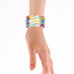 Overlapping Colors Art Design Printed Hinged Bangle