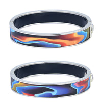 Blue & Red Cross Section Colors Reversible HD Printed Hinged Bangle