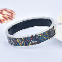 Dark Aztec Tribal Patterns HD Printed Hinged Bangle