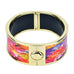 Color Dyed Flowers HD Printed Hinged Bangle