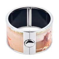 Starfish & Shell by the Beach Printed Hinged Bangle