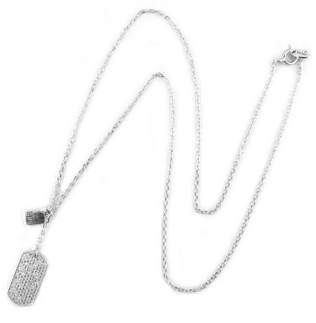 925 Sterling Silver- Necklace with TAG PAVE