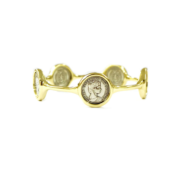 Queen Elizabeth The Second Imitation Coin Bangle