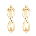 Gold Tone Infinity Hoop Earrings