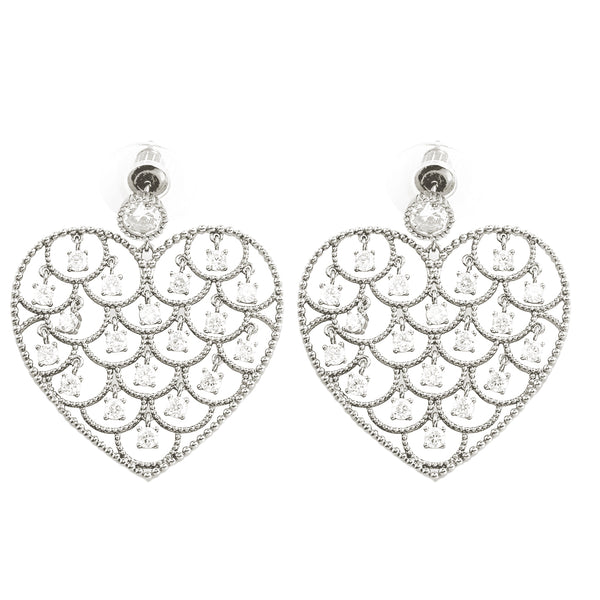 Pave Cubic Zirconia Earrings
