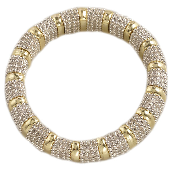 Stretchable Two tone Bracelet 7""