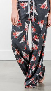 Floral Crown Longhorn Lounge Pants