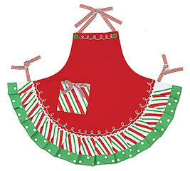 Adult Christmas Apron with Ruffles