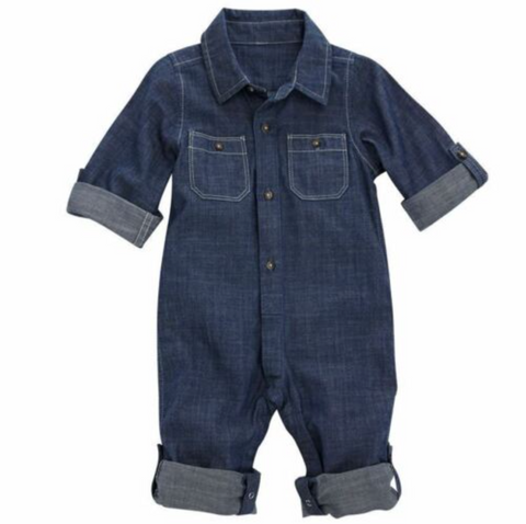 Mud Pie Chambray one-piece 9-12 months