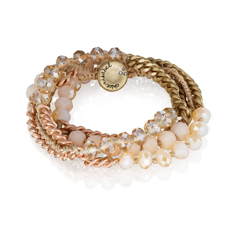 Bead+Chain Multi-Wrap Bracelet