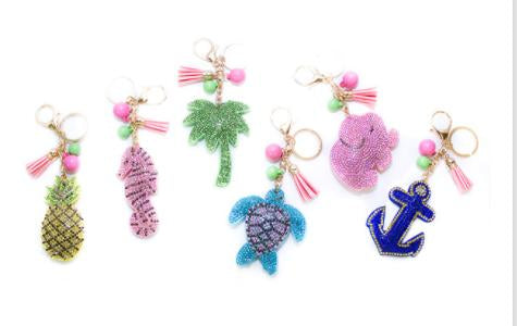 Key Fob/ Bag Charm - Purse Key Ring Charm for Women