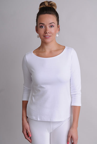 Eileen Fisher Organic Cotton Ballet Neck Tee Naturals Inc