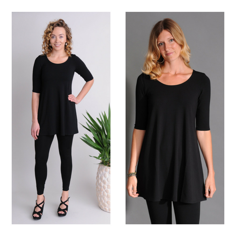 Eileen Fisher leggings and tunic at Naturals Inc.