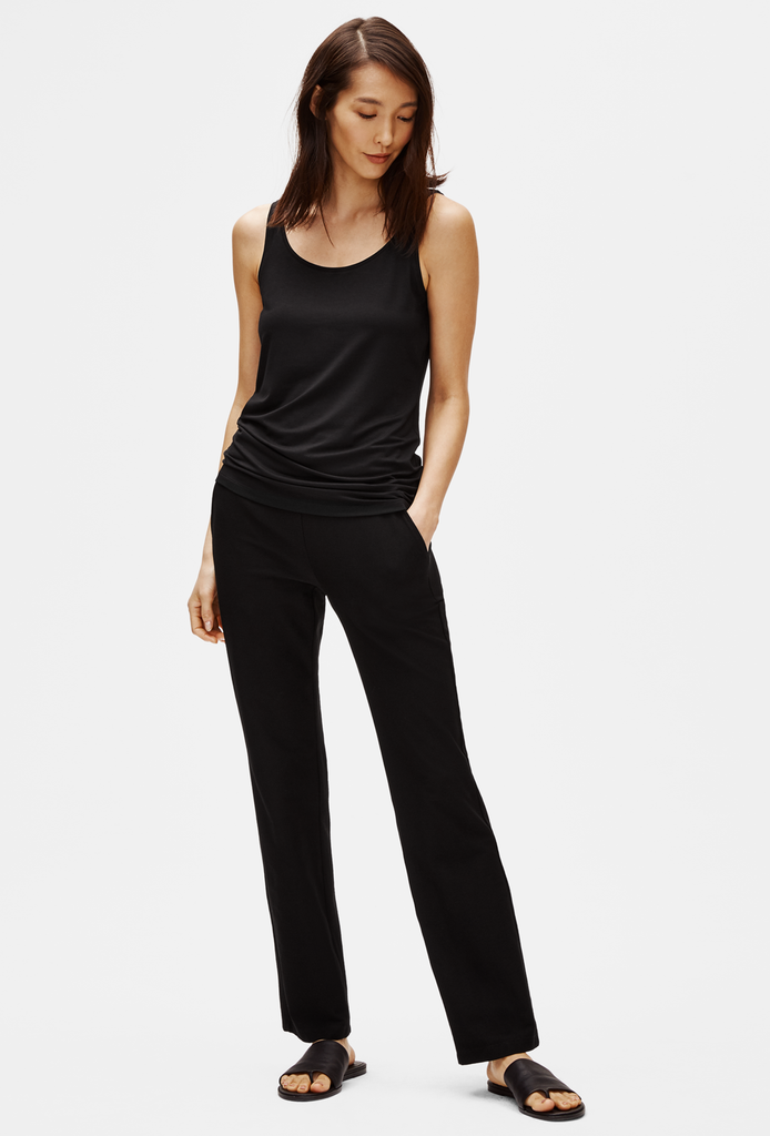 EILEEN FISHER Straight Leg Pant with Yoke