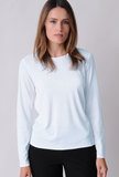 EILEEN FISHER Lightweight Viscose Jersey Crew Neck Top