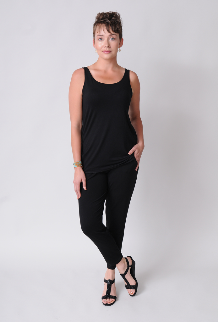 SALE - EILEEN FISHER Lightweight Viscose Jersey System Long Tank