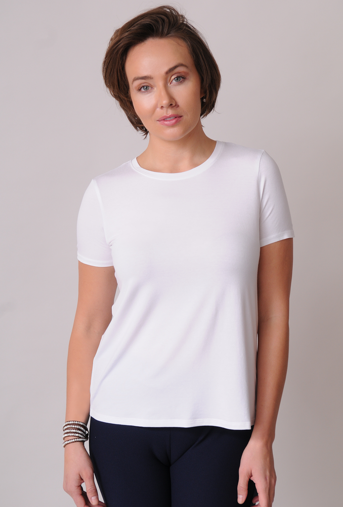 EILEEN FISHER Lightweight Viscose Jersey Tee