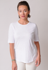 EILEEN FISHER Organic Cotton Jersey Slub Elbow Sleeve Tee
