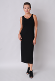 Eileen Fisher Scoop Neck System Tank Dress in Viscose Jersey