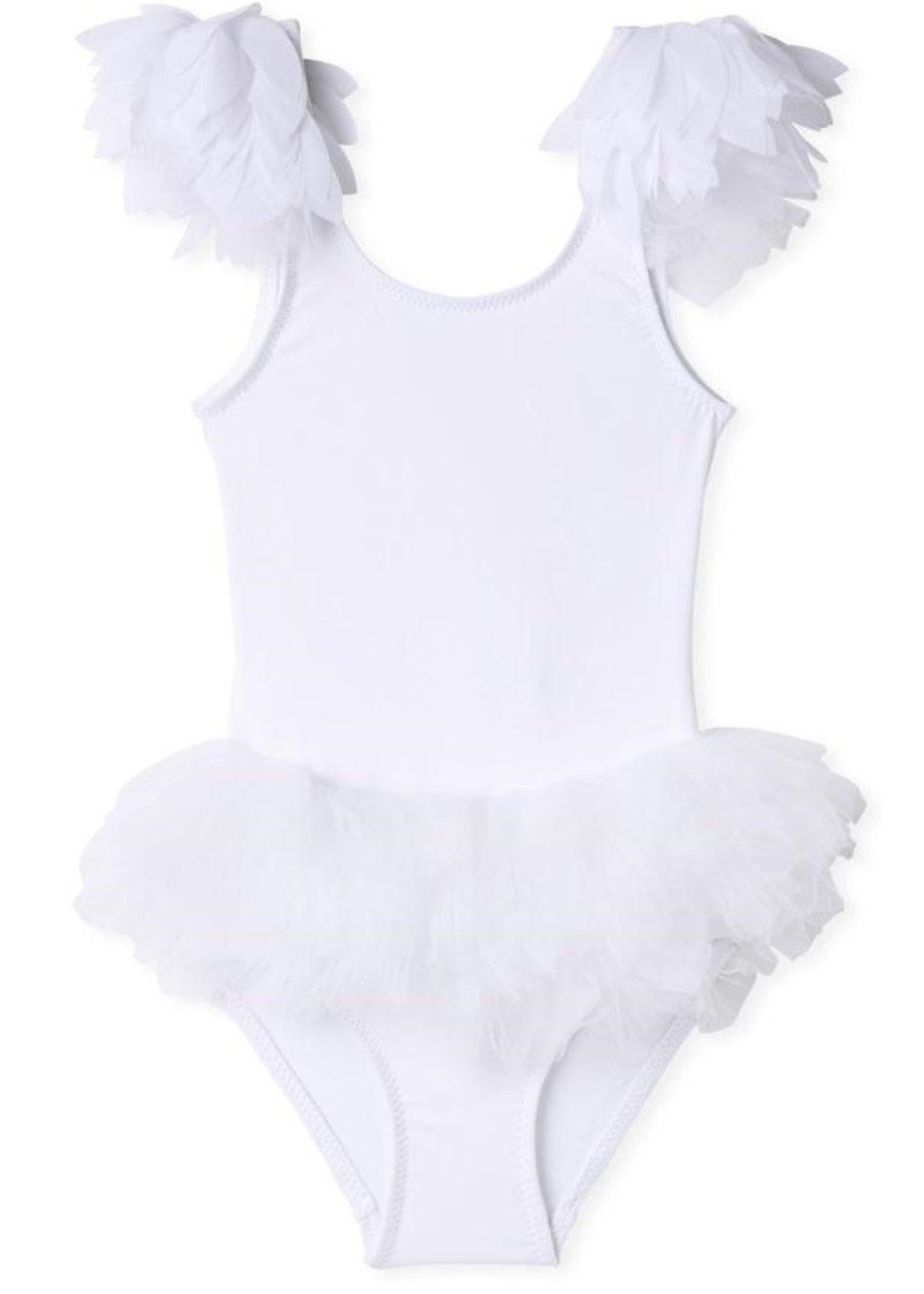 White Swan Bathing Suit for Girls