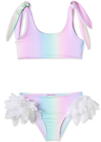 Rainbow Bikini for Girls with Petals