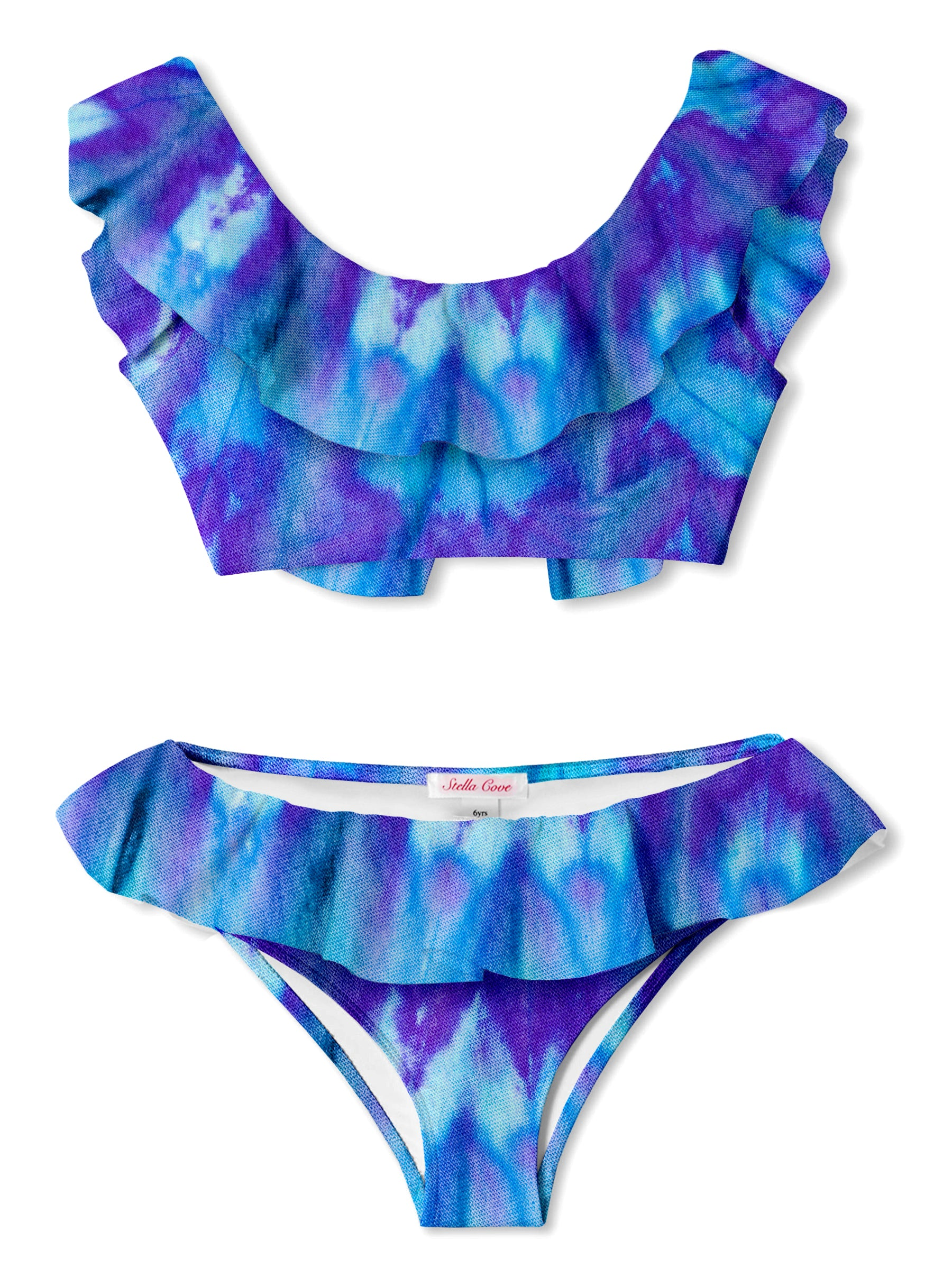 Indigo Tie Dye Bikini for Girls