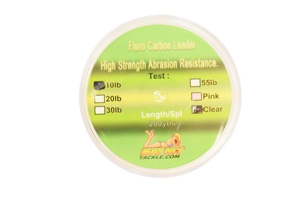 Clear Fluorocarbon Fishing Leader - 200 Yards | 10, 20, 30, or 55 lbs., Fishing Tackle - Eat My Tackle