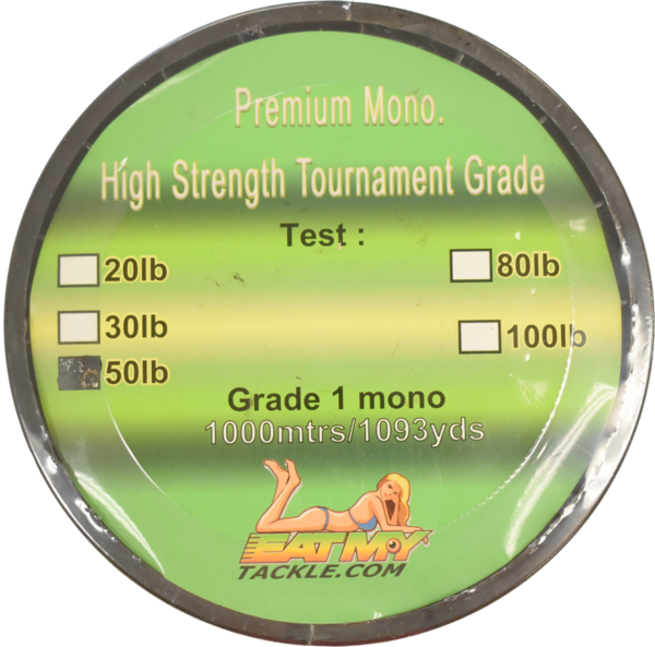 Monofilament Fishing Line - Premium Tournament Grade, 1000 Meter Spool, Fishing Tackle - Eat My Tackle